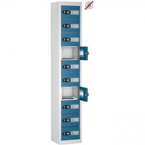 10 Door Tablet Storage Only Locker with Vision Doors