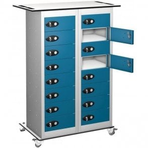 16 Door Tablet Storage Only Trolley
