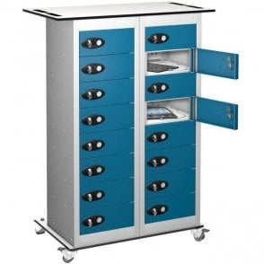 16 Door Tablet Store & Charge Trolley