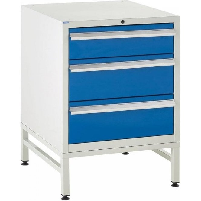 3 Drawer Under Bench Cabinets on Stands - 600mm Wide x 825mm High