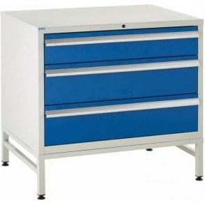 3 Drawer Under Bench Cabinets on Stands - 900mm Wide x 825mm High