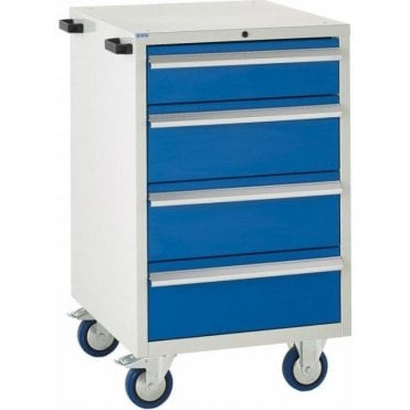 4 Drawer Mobile Cabinet - 600mm Wide x 980mm High