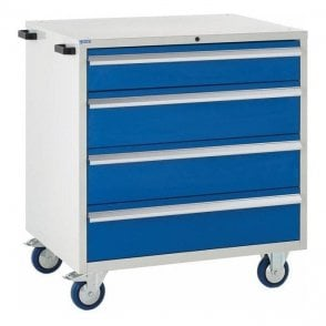 4 Drawer Mobile Cabinet - 900mm Wide x 980mm High