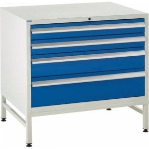 4 Drawer Under Bench Cabinets on Stands - 900mm Wide x 825mm High