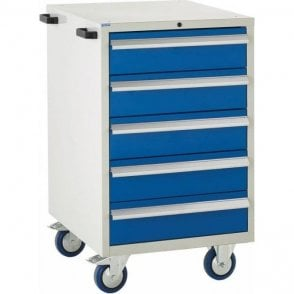 5 Drawer Mobile Cabinet - 600mm Wide x 980mm High