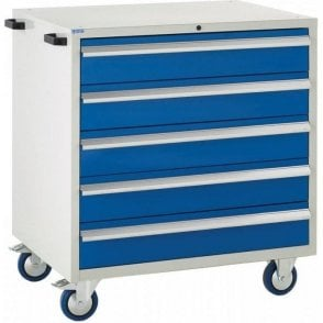 5 Drawer Mobile Cabinet - 900mm Wide x 980mm High