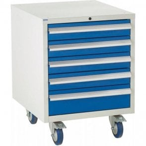 5 Drawer Under Bench Cabinet - 600mm Wide x 780mm High