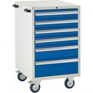 6 Drawer Mobile Cabinet - 600mm Wide x 980mm High