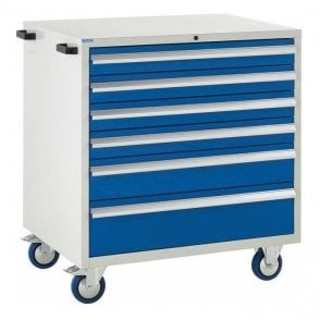 6 Drawer Mobile Cabinet - 900mm Wide x 980mm High