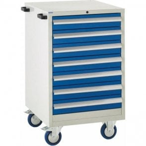 7 Drawer Mobile Cabinet - 600mm Wide x 980mm High