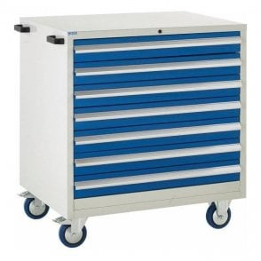 7 Drawer Mobile Cabinet - 900mm Wide x 980mm High