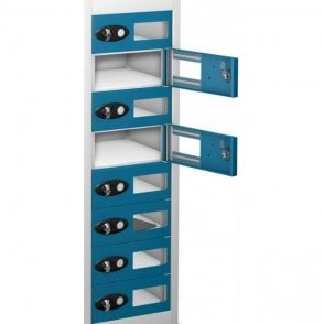 8 Door Tablet Storage Only Locker with Vision Doors