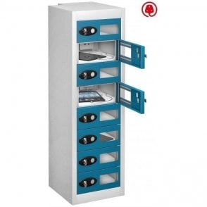 8 Door Tablet Store & Charge Locker with Vision Doors