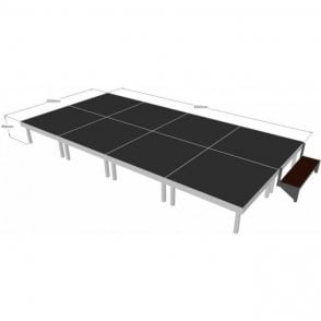 Alu Rapid Stage Package 4m x 2m x 400mm high (1m x 1m sections)