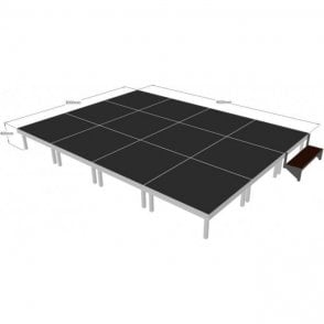 Alu Rapid Stage Package 4m x 3m x 400mm high (1m x 1m sections)