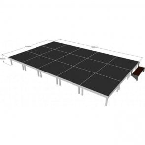 Alu Rapid Stage Package 5m x 3m x 400mm high (1m x 1m sections)