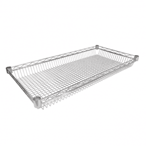 Basket Shelves for Chrome Wire Shelving