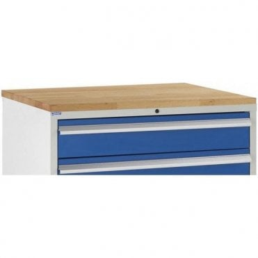 Beech Worktop fitted to Tool Cabinet