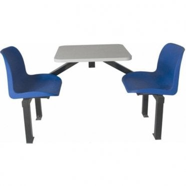 Canteen Table & Chairs - 2 Seat Single Entry