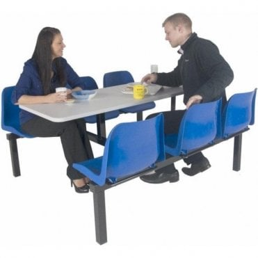 Canteen Table & Chairs - 6 Seat Double Entry