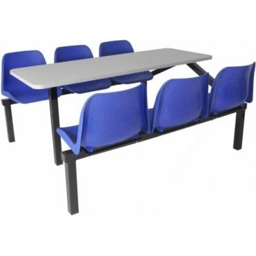 Canteen Table & Chairs - 6 Seat Single Entry