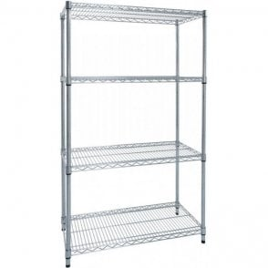 Chrome Wire Shelving 2200mm high