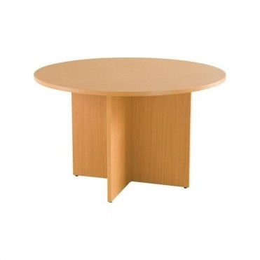 Circular Staffroom Table 25mm BEECH