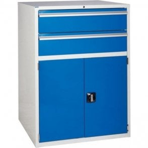 Cupboard with 2 Drawers & 1 Shelf - 900mm Wide x 1200mm High