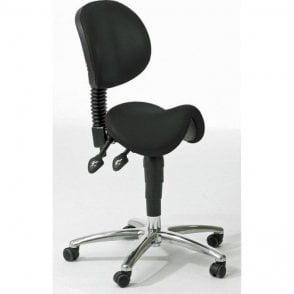 Dentist Saddle Seat with Backrest