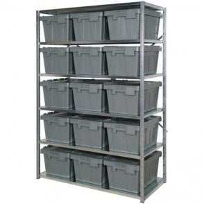 Distribution Containers on Expo 3 Shelving