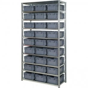 Euro Containers 148mm High on Expo 3 Shelving
