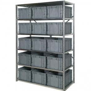 Euro Containers 280mm High on Expo 3 Shelving