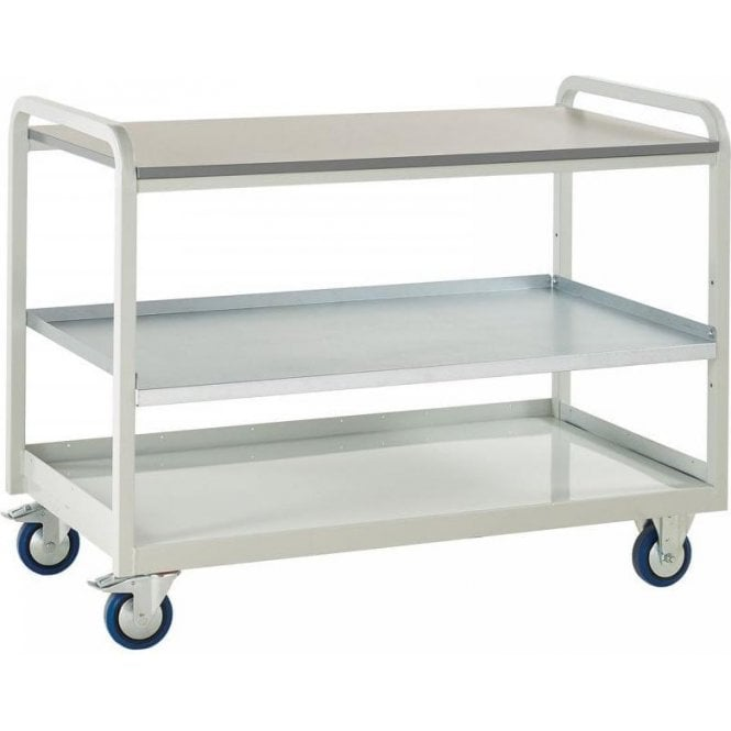 Euroslide Trolley - Laminate Top with Shelf - Kit 3 - 1270mm Wide x 960mm High