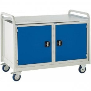 Euroslide Trolley - Steel Top & Cupboard - Kit 17 - 1270mm Wide x 960mm High