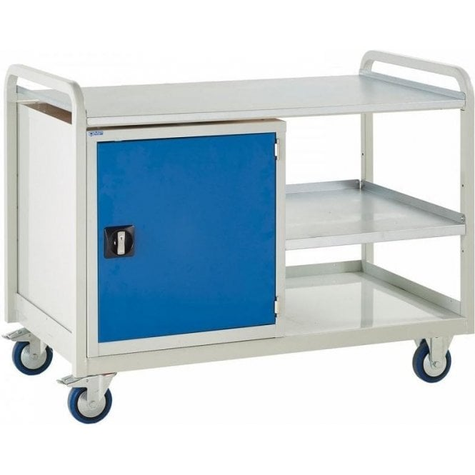 Euroslide Trolley - Steel Top with Cupboard - Kit 5 - 1270mm Wide x 960mm High