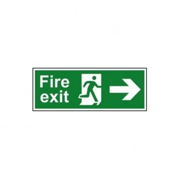 Fire exit (Man arrow right) Sign