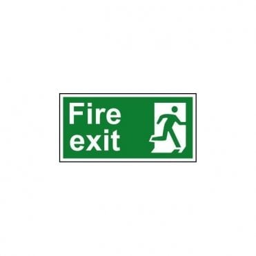 Fire exit (Man right) Sign