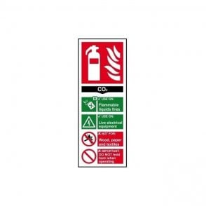 Fire extinguisher: CO2 Sign