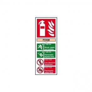 Fire extinguisher: Foam Sign