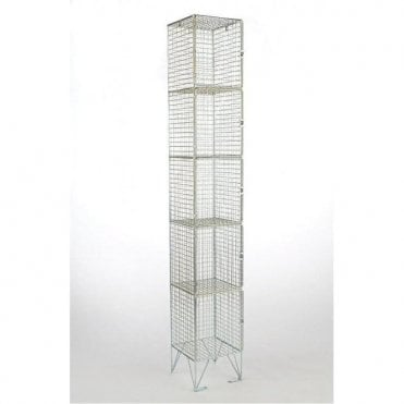 Five Compartment Wire Mesh Lockers