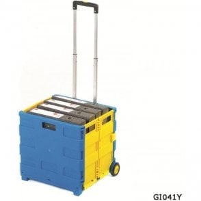 Folding Box Truck Blue/Yellow