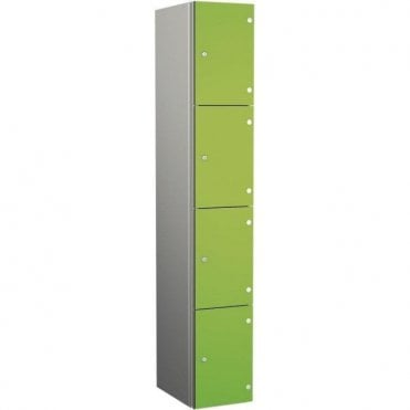 Four Compartment Aluminium Body Locker with SGL Doors