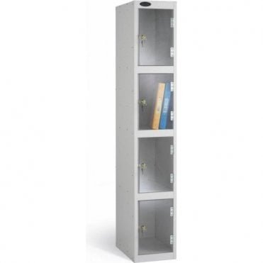 Four Compartment Clear Door Lockers