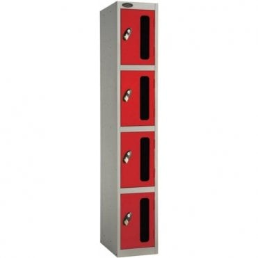 Four Compartment Vision Door Lockers