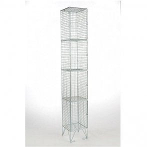 Four Compartment Wire Mesh Lockers