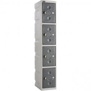 Four Door Ultrabox Plastic Lockers