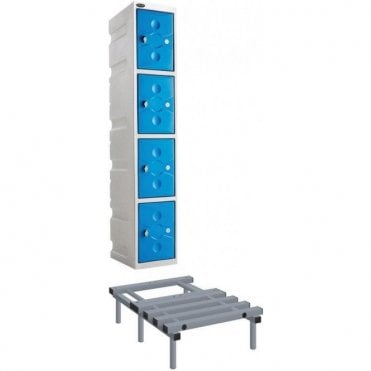 Grey Ultrabox Plastic Locker Seat and Stands 450mm high