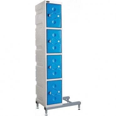 Grey Ultrabox Plastic Locker Stands 160mm high
