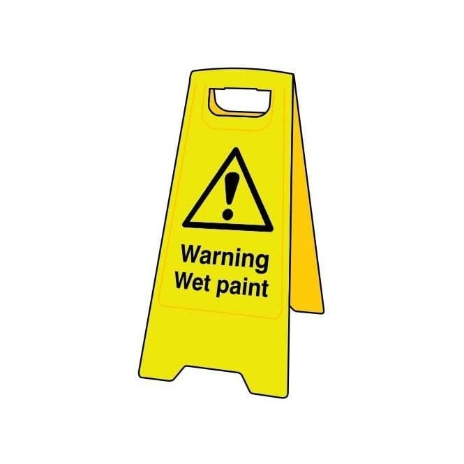 Heavy Duty A-Board - 'Warning Wet Paint'