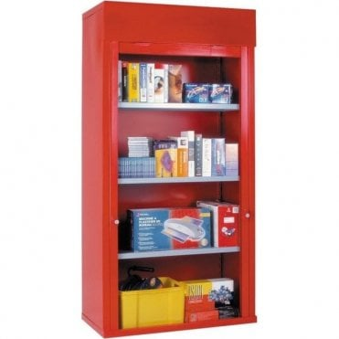 Heavy Duty Roller Shutter Cabinets - 3 Adjustable Shelves
